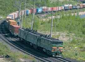 Rail transport containers and cargo